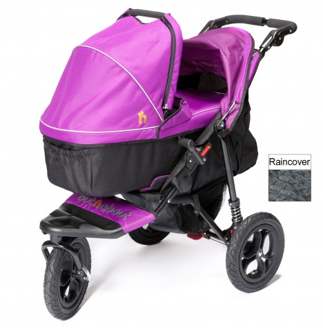 Out n About Nipper Single Pushchair & Carrycot - Purple Punch
