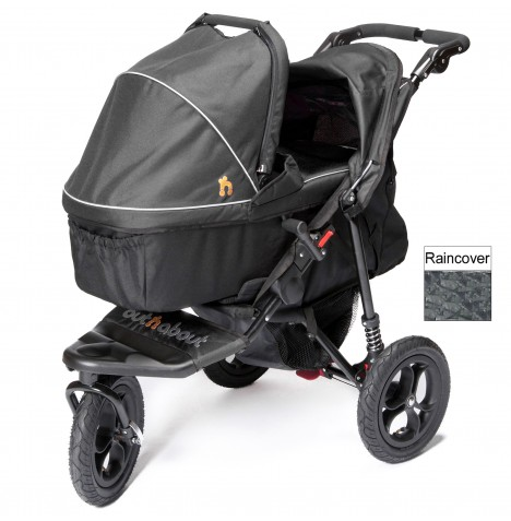 Out n About Nipper Single Pushchair & Carrycot - Raven Black