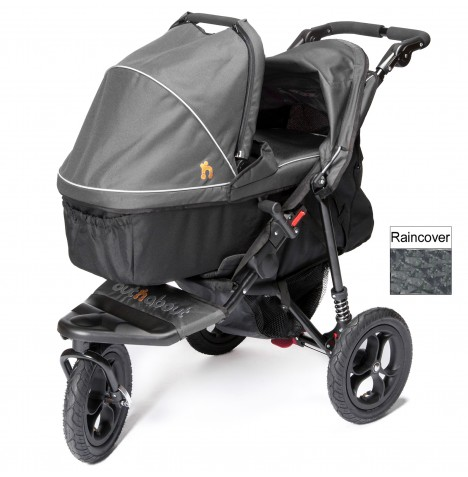 Out n About Nipper Single Pushchair & Carrycot - Steel Grey