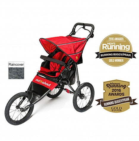 Out n About Nipper Sport Pushchair / Jogger - Carnival Red