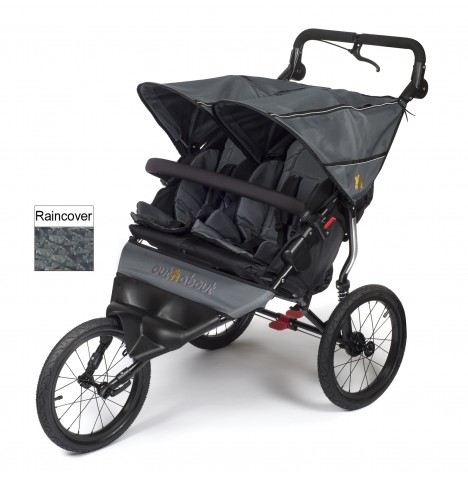 Out n About Nipper Sport Double Pushchair / Jogger - Steel Grey