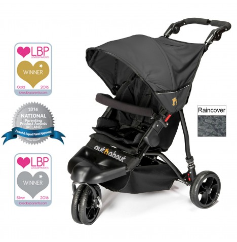 Out n About Little Nipper Single Pushchair - Jet Black