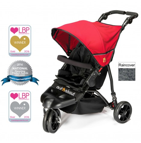 Out n About Little Nipper Single Pushchair - Poppy Red