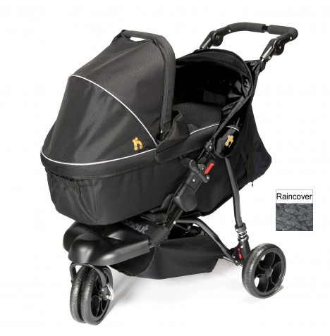 Out n About Little Nipper Single Pushchair & Carrycot - Jet Black