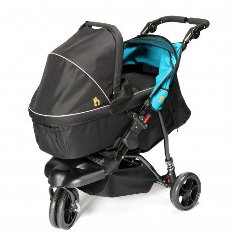 Out n About Little Nipper Single Pushchair & Carrycot - Marine Blue
