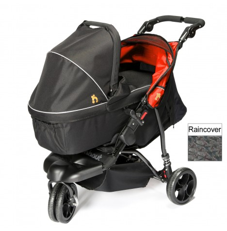 Out n About Little Nipper Single Pushchair & Carrycot - Poppy Red