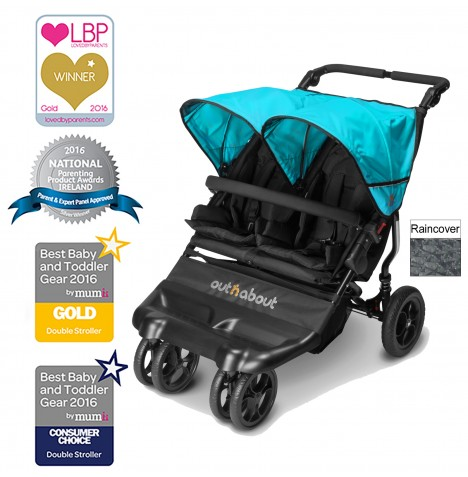 Out N About Little Nipper Double Pushchair - Marine Blue