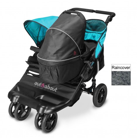 Out N About Little Nipper Double Pushchair & Carrycot - Marine Blue