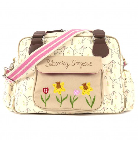 Pink Lining Blooming Gorgeous Changing Bag - Sam The Dalmation