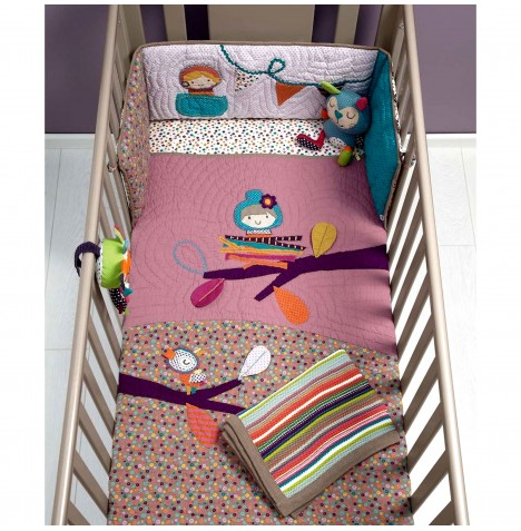 Mamas & Papas 3 Piece Cot / Cot Bed Bedding Bale - Timbuktales (Girls)