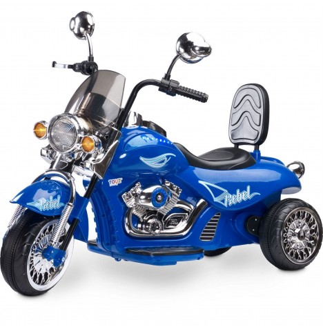 Toyz Battery Operated Rebel Motorbike Ride-On - Blue