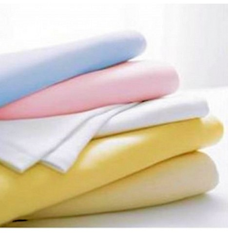 Mamas & Papas 2 Pack Cot / Cot Bed Cotton Interlock Flat Sheets (100x150) - White