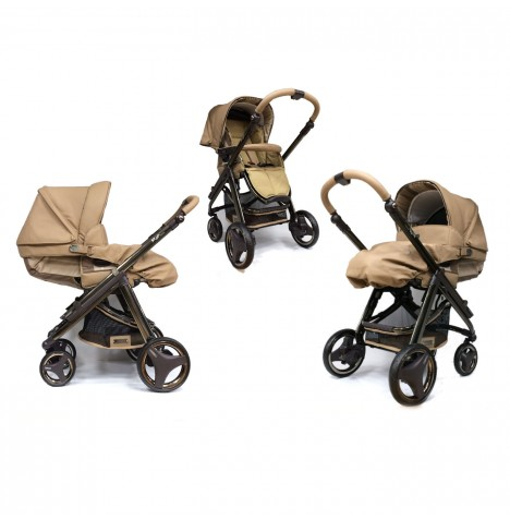 Bebecar Limited Edition Ip-Op Evolution 2 In 1 Deluxe Pushchair / Pram - Cashmere