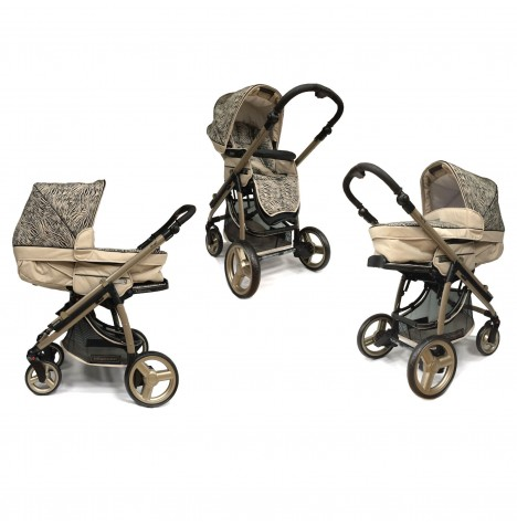 Bebecar Ip-Op 2 In 1 Deluxe Pushchair / Pram - Mirage