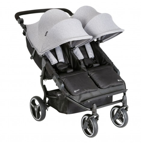 My Child Easy Twin Double Stroller - Grey