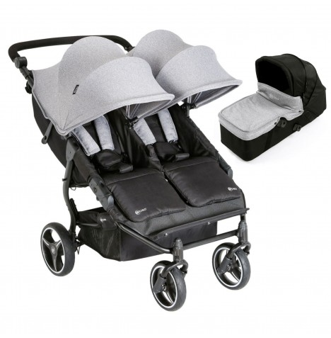 My Child Easy Twin Double Stroller & Carrycot - Grey