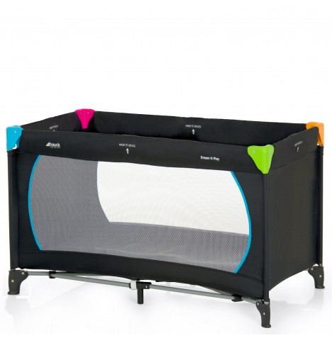 Hauck Dream n Play Travel Cot / Baby Playpen - Multicolour Black