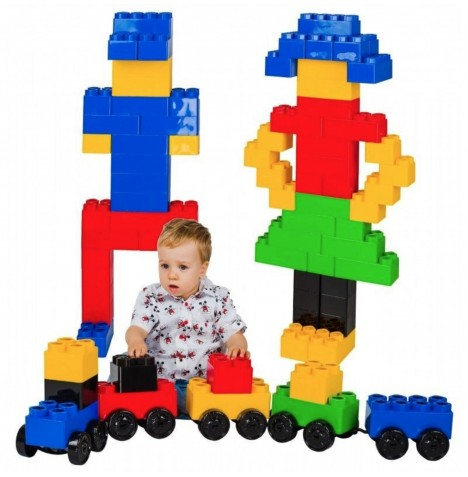 Supreme Baby Giant Mega Fun Building Blocks Construction Toy Bricks (65pc)
