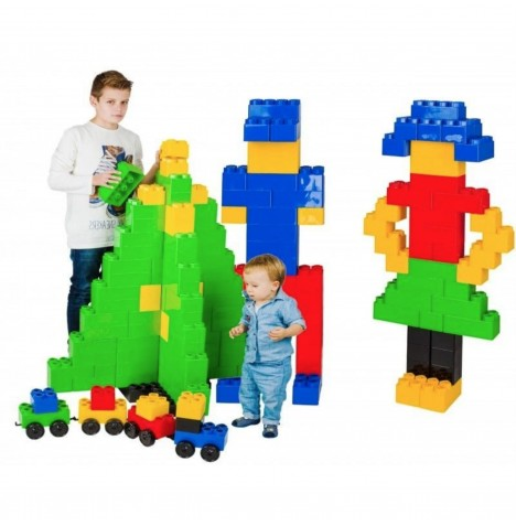 Supreme Baby Giant Mega Fun Building Blocks Construction Toy Bricks (105pc)