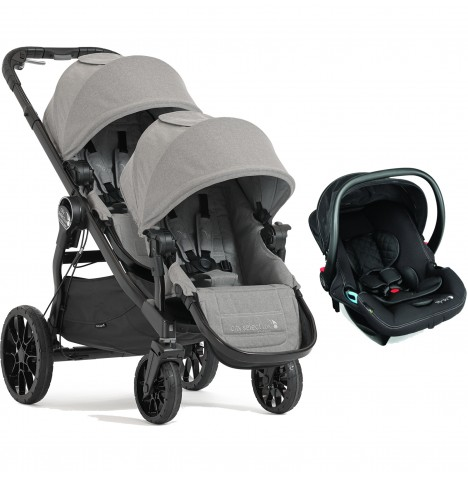 Baby Jogger City Select LUX Tandem Travel System (x1 Car Seat) - Slate
