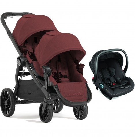 Baby Jogger City Select LUX Tandem Travel System (x1 Car Seat) - Port
