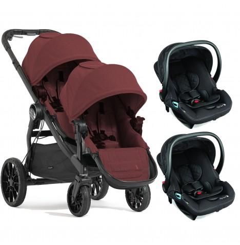 Baby Jogger City Select LUX Tandem Double Travel System (x2 Car Seat) - Port