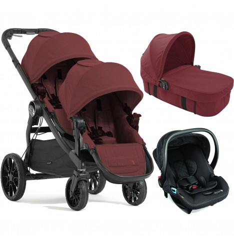 Baby Jogger City Select LUX Tandem Travel System & Carrycot (x1 Car Seat, x1 Carrycot) - Port
