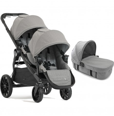 Baby Jogger City Select LUX Tandem Pushchair & Carrycot - Slate
