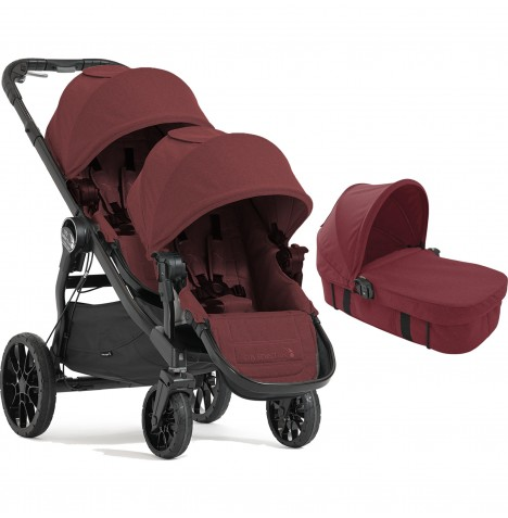 Baby Jogger City Select LUX Tandem Pushchair & Carrycot - Port