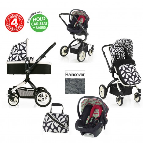 Cosatto Ooba 3 in 1 Travel System - Charleston / Flamingo Fling..