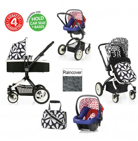 Cosatto Ooba 3 in 1 Travel System - Charleston / Apple Seed..