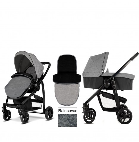 Graco Evo Pushchair & Carrycot - Slate