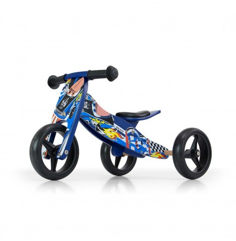 Milly Mally Jake 2in1 Ride On / Balance Bike - Blue