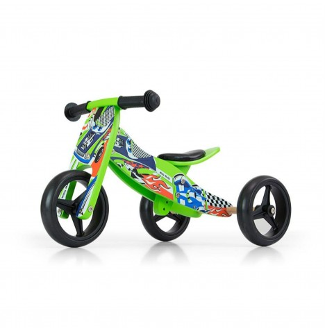 Milly Mally Jake 2in1 Ride On / Balance Bike - Green