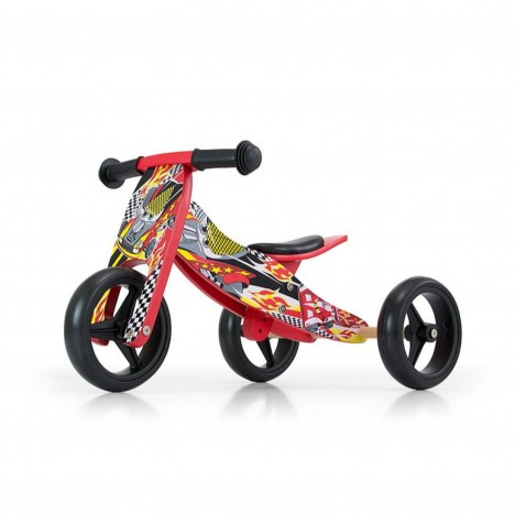 Milly Mally Jake 2in1 Ride On / Balance Bike - Red
