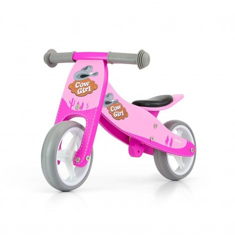 Milly Mally Jake 2in1 Ride On / Balance Bike - Western Pink