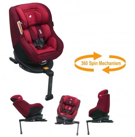 Joie Spin 360 Group 0+/1 Isofix Car Seat - Merlot...