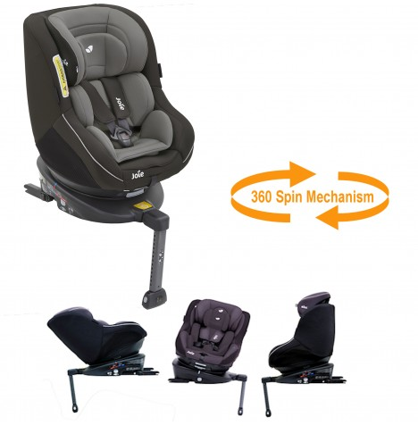Joie Spin 360 Group 0+/1 Isofix Car Seat - Dark Pewter...