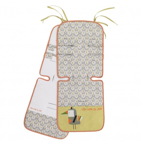 Jane Reversible Pushchair Seat Liner - Tucan
