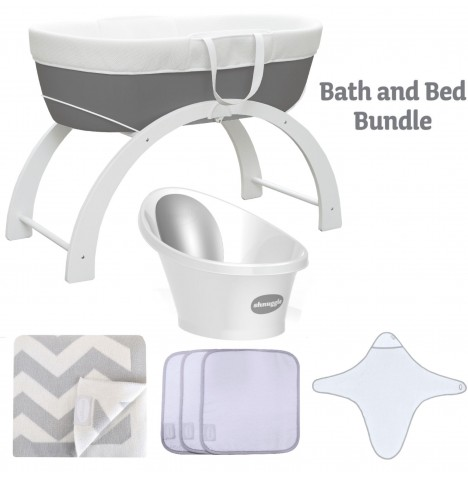 Shnuggle Bath And Bed Time Bundle - Slate Grey