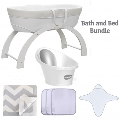 Shnuggle Bath And Bed Time Bundle - White