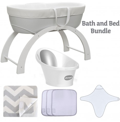 Shnuggle Bath And Bed Time Bundle - Grey