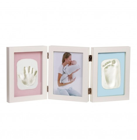 Jane Photo Frame - 3 Segments - Hand or Footprint - White