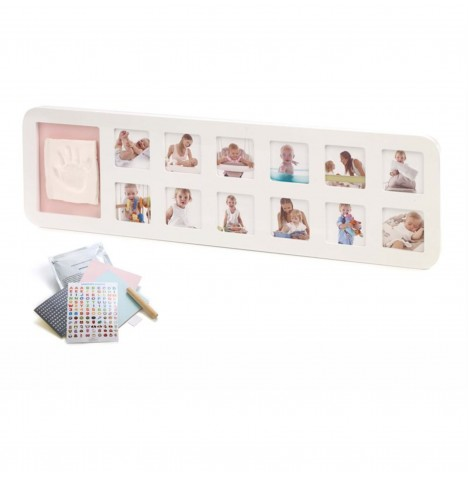 Jane Baby's First Year Photo Frame - White