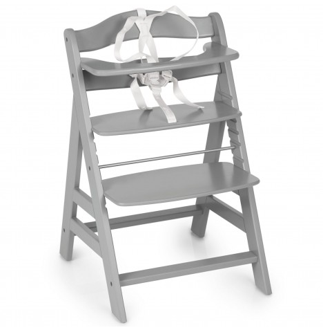 Hauck Alpha+B Grow With Your Child Wooden Highchair - Grey