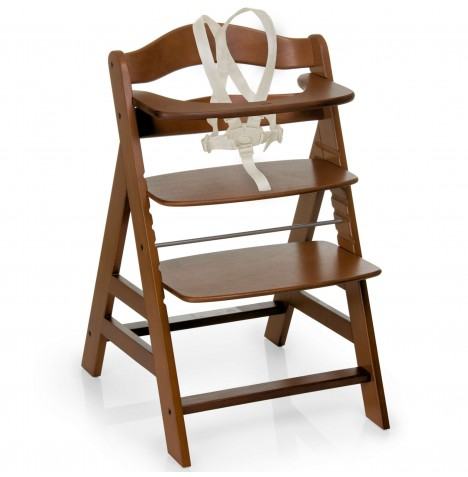 Hauck Alpha+B Grow With Your Child Wooden Highchair - Walnut