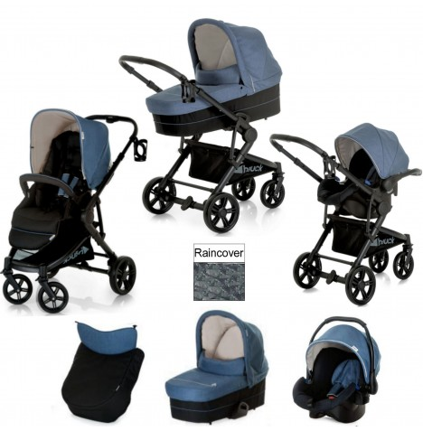 Hauck Atlantic Plus Trio Set Travel System - Melange Jeans