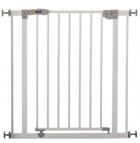 Hauck Open N Stop Metal Pressure Fix Safety Gate + 9cm Extension - White