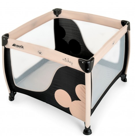 Hauck Disney Play N Relax Large Square Travel Cot / Playpen - Mickey Classic