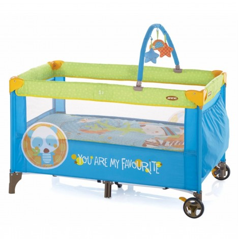 Jane Duo Travel Cot & Toys - Animal Dots